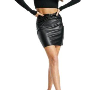 EXPRESS Black faux leather mini skirt SIZE Small